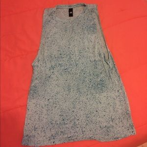 Blue speckled Adidas Muscle Tee